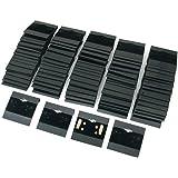 "Black Velvet Plastic Display Cards for Earrings, Jewelry Accessories, 2"" x 2"" (100 Pk)"
