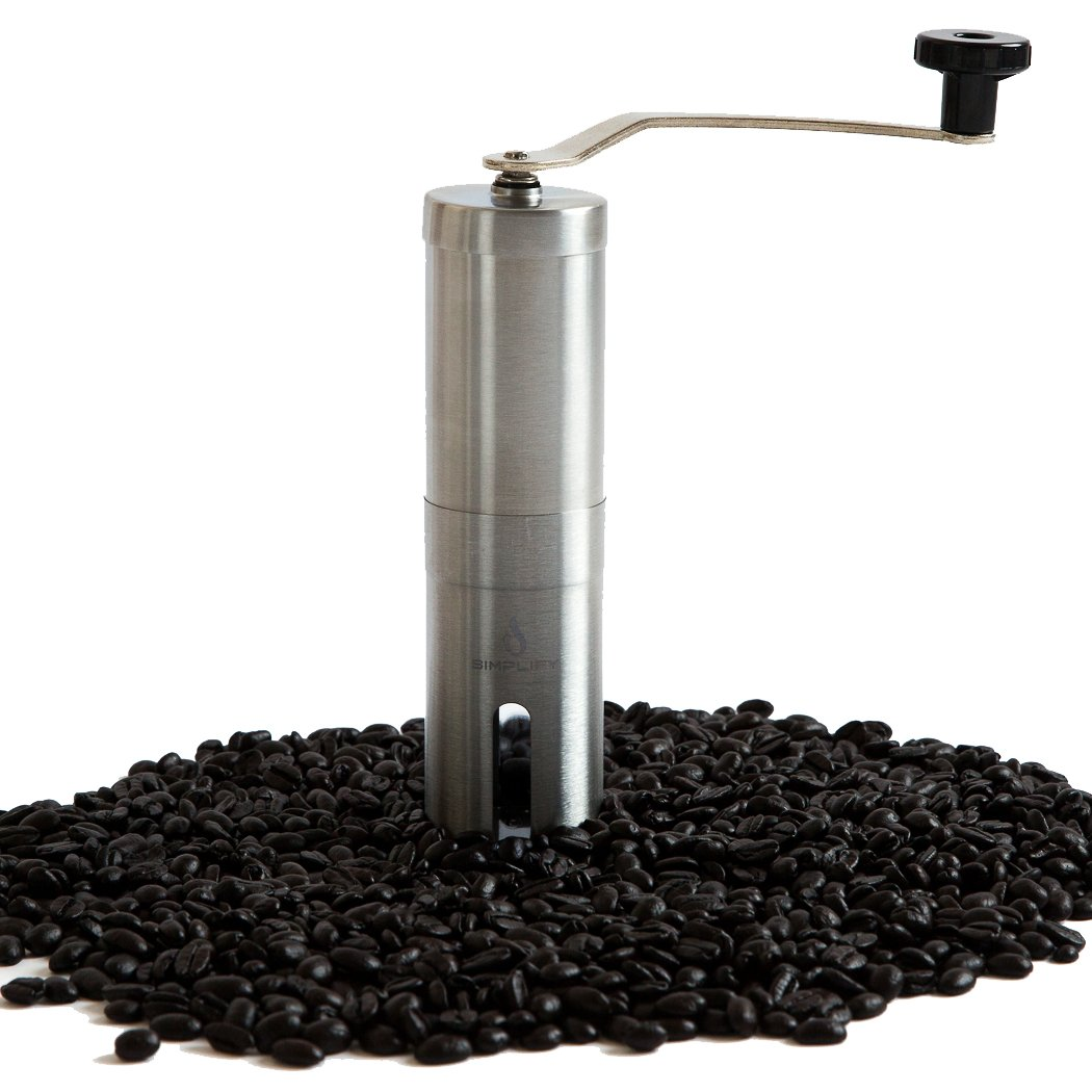 Manual Coffee Grinder   Portable Handheld Coffee Grinder with Ceramic Conical Burr Mill for the Most Consistent Grind and Precision Coffee Brewing   For Travel, French Press, Aero Press and More