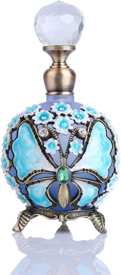YUFENG - Botella de Perfume de estaño con diseño de Mariposas, esmaltada, Botellas Decorativas