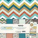"My Mind's Eye Paper & Accessories Kit 12""X12""-Happy Camper"