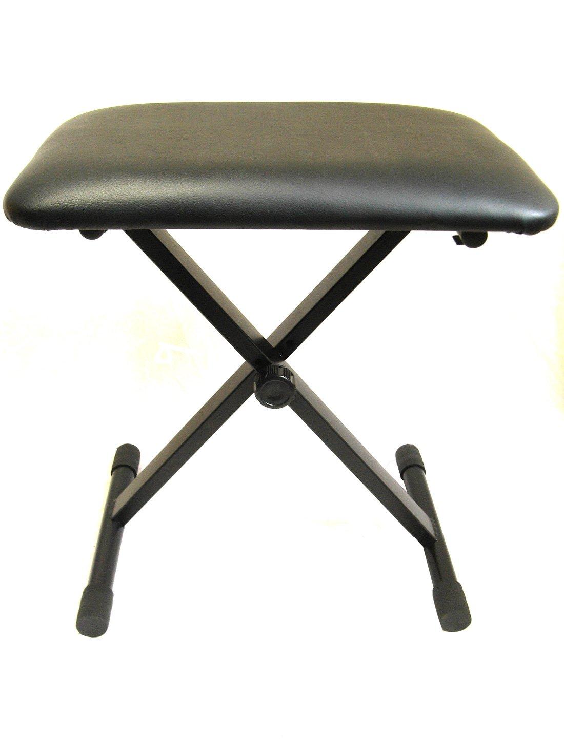 Tone Deaf Music Keyboard Bench. Adjustable, folding piano stool / seat KB01