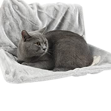 diffstyle hanging cat hammock with stable frame soft cat radiator bed hanging kitten chairs  gray amazon     diffstyle hanging cat hammock with stable frame soft      rh   amazon