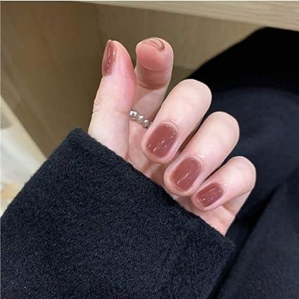 Uñas Postizas,Natural Francés Nails,Uñas Postizas Cortas,Uñas ...