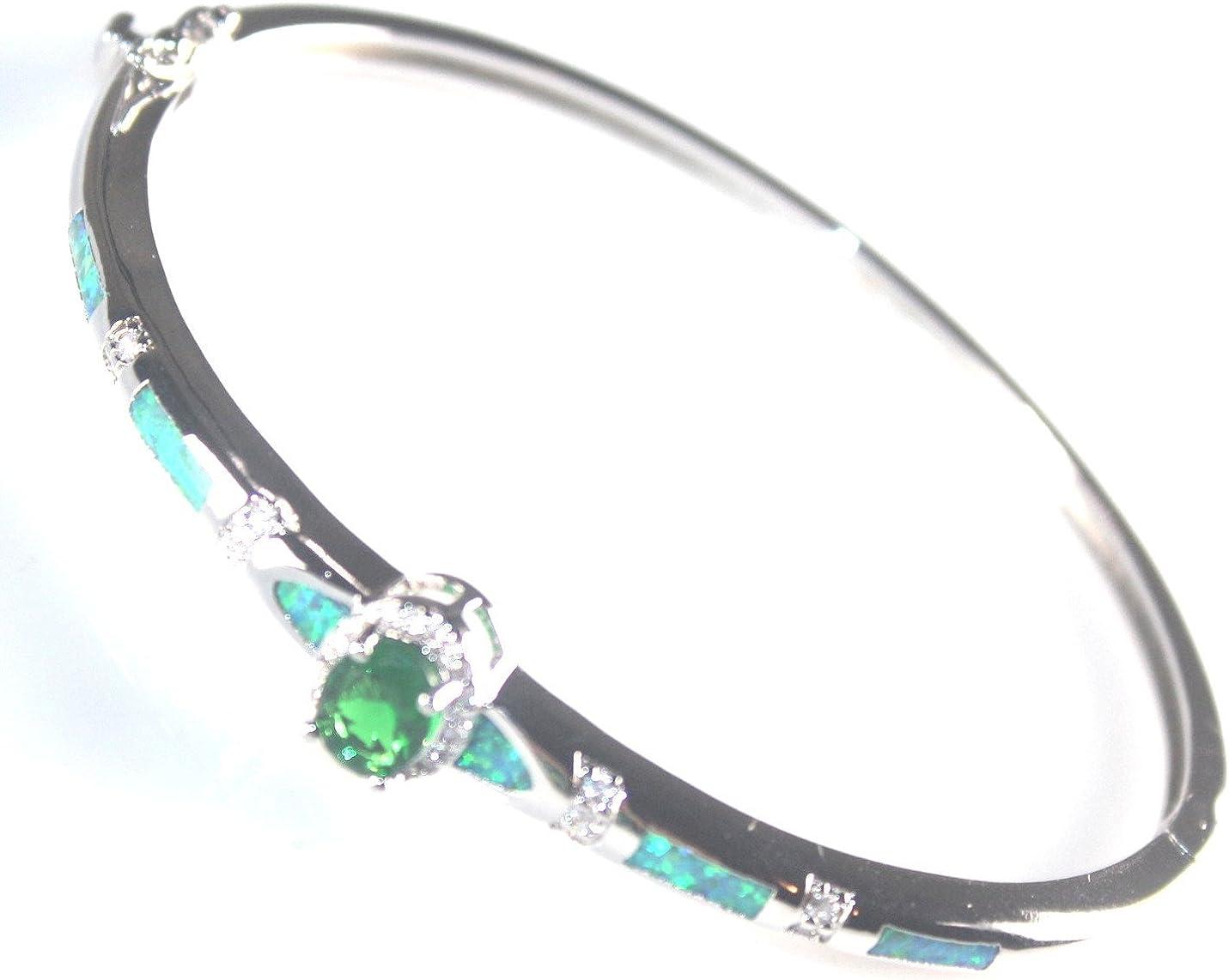 SilverstoneTX SILVER Elegant Blue Fire Opal /& Blue Topaz Oval Stud Earrings Woman Gift