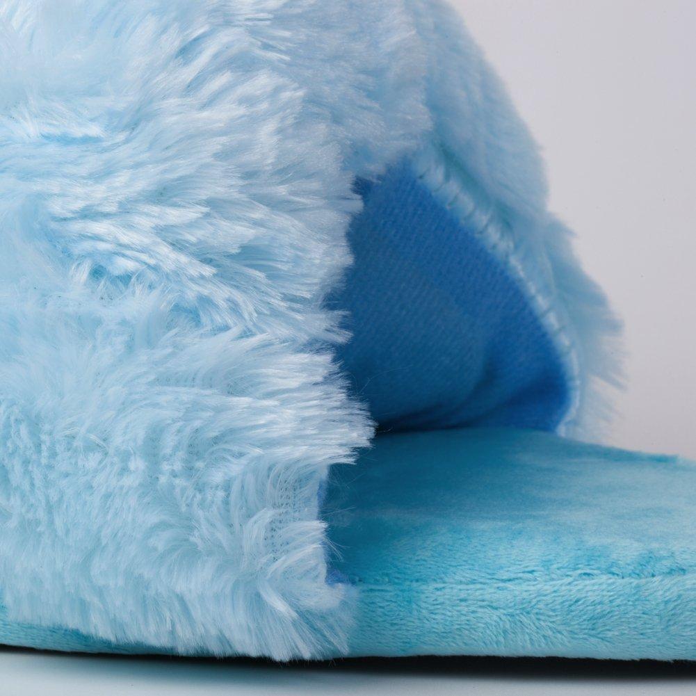 Katara 1755 Cute Soft Plush Unicorn Slippers Fleece Winter House Shoes Lounge Footwear UK Size 3-11 Blue
