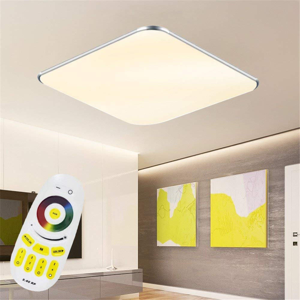 24W LED RGB Ultraslim Moderno Lámpara de techo dormitorio Cocina Piso Salón Lámpara de pared Lámpara Ahorro De Energía Luz: Amazon.es: Iluminación