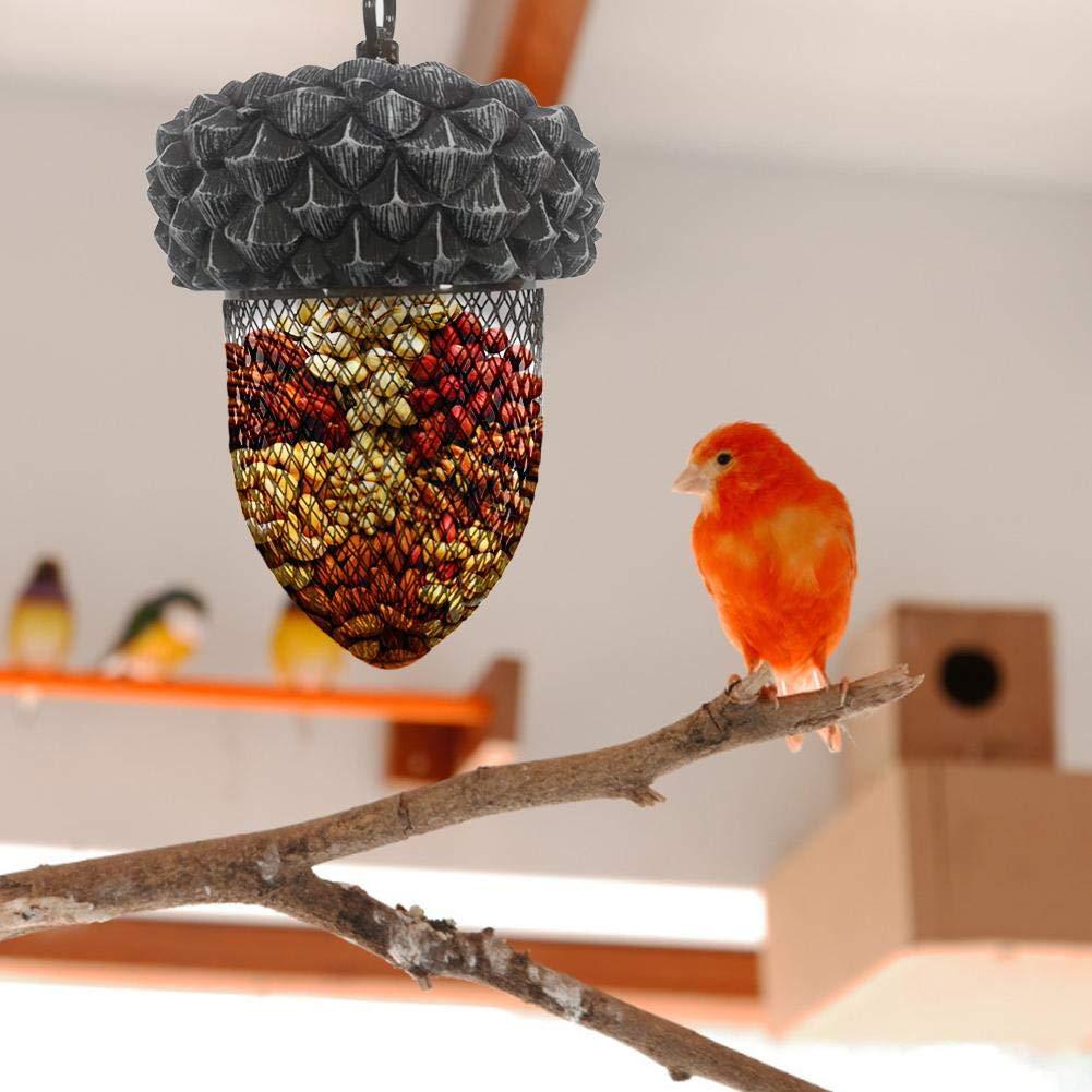 Rust Metal Bird Feeder Acorn Shape Bird Feeder with Hanging Hook Hanging Wild Bird Seed Feeder Bird Feeder