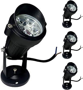 Pack de 4 Foco LEDs para Jardín 5W 220V Luz LED para Exteriores Focos de exterior iluminación Para Calzada, Patio, Cesped, Pathway, Jardín: Amazon.es: Iluminación