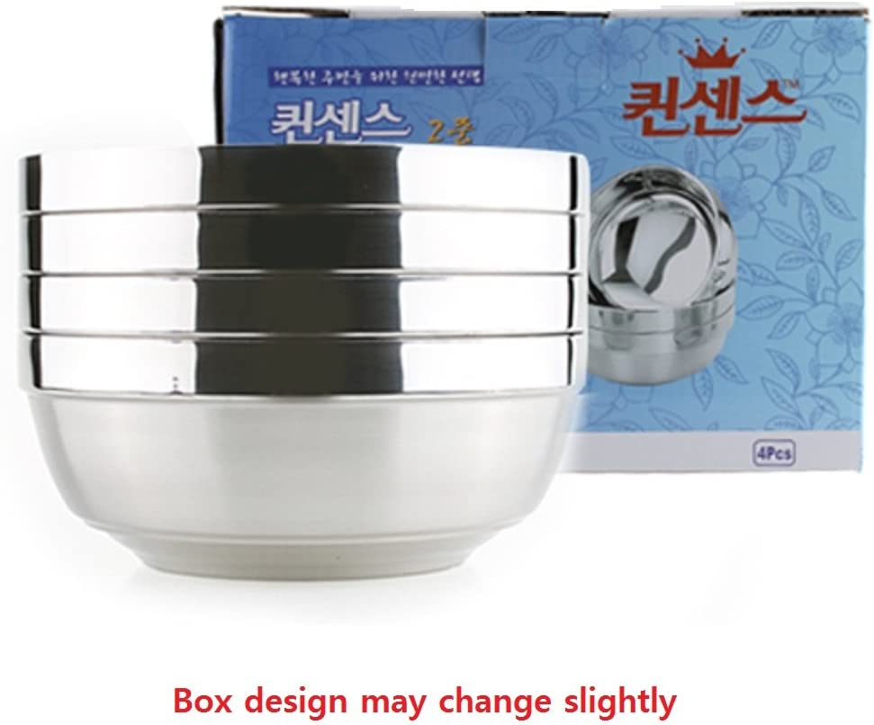 Details about  /Vacuum Insulated Double Skin Stainless Steel Korean Traditional Noodles Bibimbap