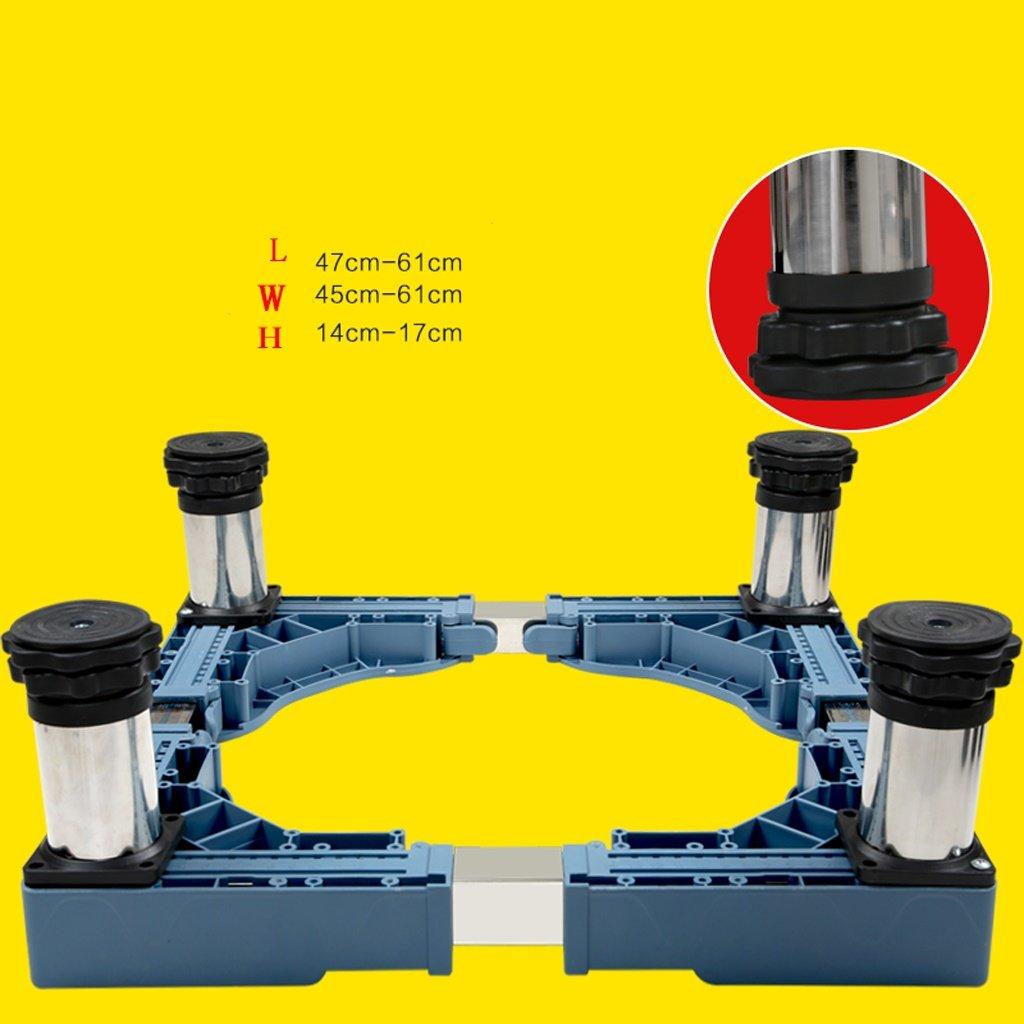 Washing Machine Base Stainless Steel Heighten Stent Fridge Bracket -Casters (Size : A)