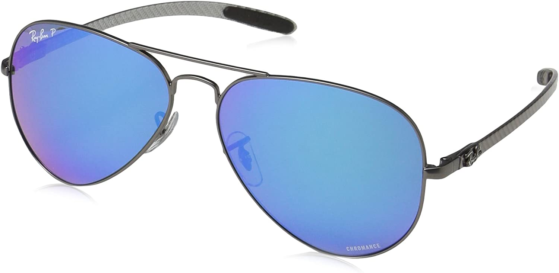 RAY-BAN 0RB8317CH Gafas de sol, Matte Gunmetal, 58 para Hombre