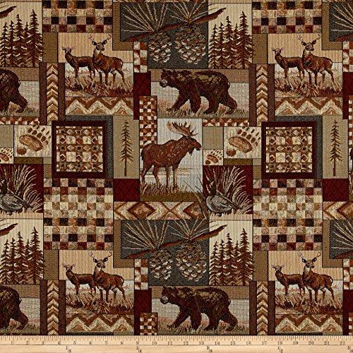 Patch Pinecone - Regal Fabrics Peters Cabin Patch Jacquard, Denim