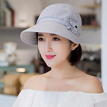 30e3382abfd76 RangYR Sombrero De Mujer Sra. Cap Visera Fina De Verano De Primavera De  Algodón Sombrero