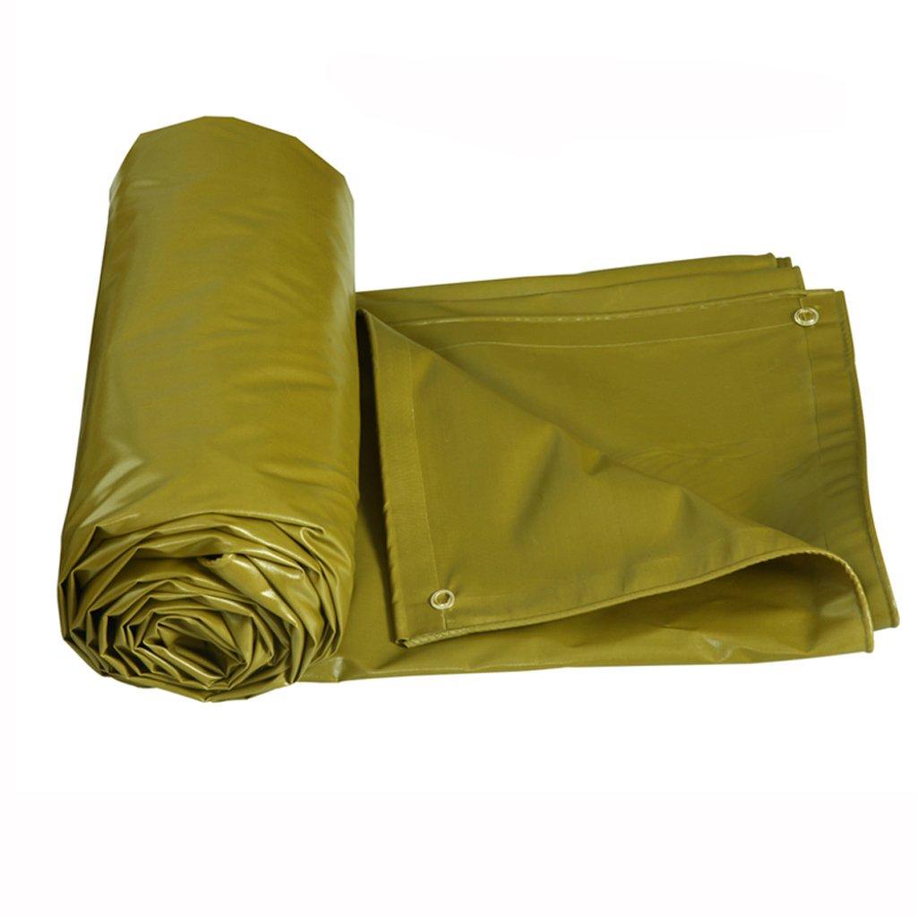 厚い防水性の雨日焼け止めの防水シートのタパフリントラックのファジー布の防水シートPVC (色 : Military yellow, サイズ さいず : 3 * 2m) B07FM8B6CT  Military yellow 3*2m