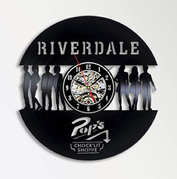Riverdale - Reloj de Pared (30 cm, Vinilo), diseño de Discos de Vinilo Decorativos, Color Negro: Amazon.es: Hogar