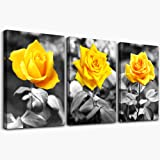 Canvas Wall Art for bedroom living room bathroom Wall Decor for kitchen family pictures artwork Black and white yellow…