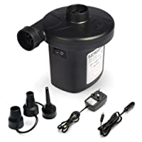 BST Electric Air Pump,Inflates/Deflates 3in1 nozzle adapter,2in1 Power AC240V/DC12V