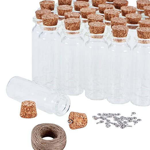 Egurs Mini Botellas de Vidrio con Corcho - 30pcs Botellas de ...