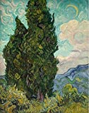 'Vincent Van Gogh Cypresses,1889' Oil Painting, 16x20 Inch / 41x51 Cm ,printed On Perfect Effect Canvas ,this Imitations Art DecorativeCanvas Prints Is Perfectly Suitalbe For Gift For Relatives And Home Artwork And Gifts