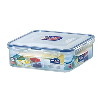 Charmant LOCK U0026 LOCK Square Food Container With Divider, Short, 6.6 Cup, 54