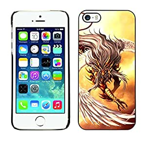 // PHONE CASE GIFT // Duro Estuche protector PC Cáscara Plástico Carcasa Funda Hard Protective Case for iPhone 5 / 5S / Eagle warrior /