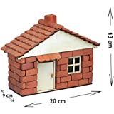Kit de construcción , Edificio de piedra, Giovanni,con chimenia , rojo (En Bruto), RN01