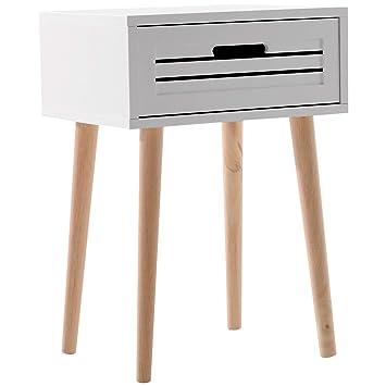 Homcom Table De Chevet Table De Nuit Design Scandinave 40l X 30l X