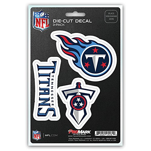 NFL Tennessee Titans Team Decal, 3-Pack