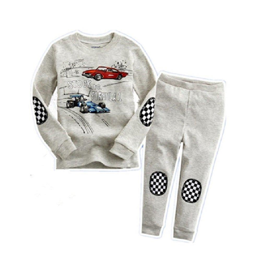 Hooyi Baby Boy Long Sleepwear Cotton Automobile Racing Pajamas Set