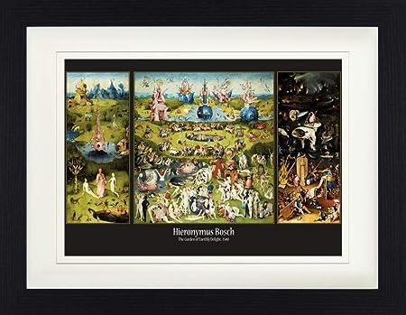 1art1 El Bosco - El Jardín De Las Delicias, 1500 Póster De Colección Enmarcado (40 x 30cm): Amazon.es: Hogar