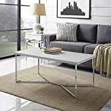 WE Furniture AZF42LUXWMC Coffee Table, Faux Marble/Chrome Review