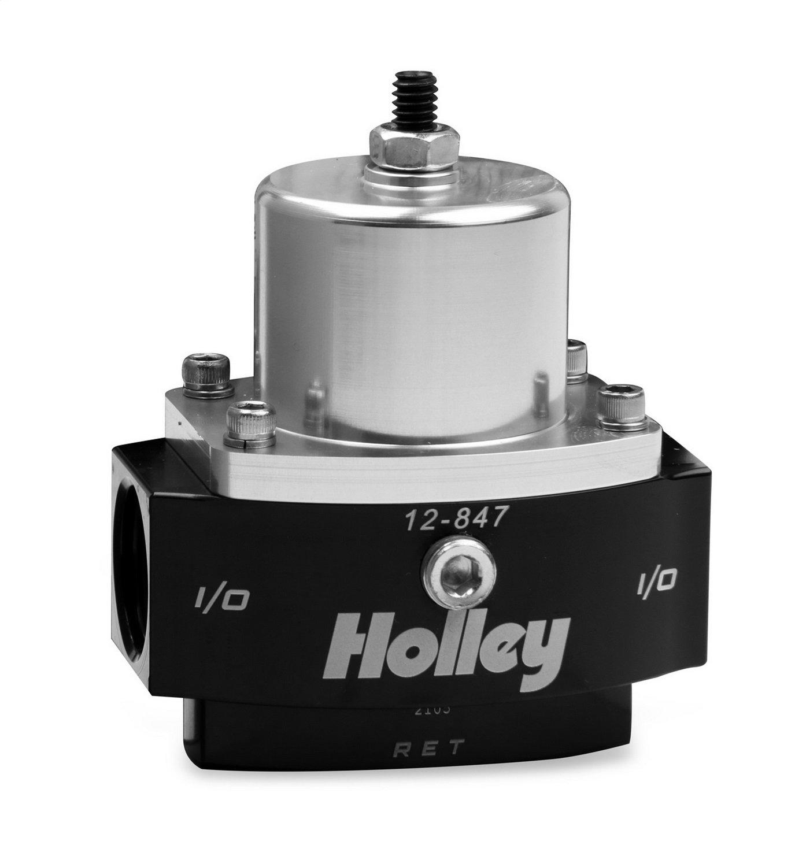 Holley 12-847 Dominator 10AN Inlet/Outlet 8AN Return 4.5-9 PSI Adjustable Billet Fuel Pressure Regulator
