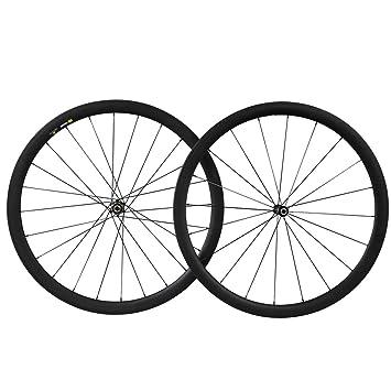 38mm 700C Aero Carbono Bicicleta Carretera Rueda Tubular Profundo Sapim CX-Ray Radios: Amazon.es: Deportes y aire libre