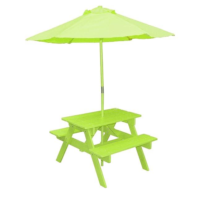 Sunny Days Mesa de Picnic con sombrilla, para niños: Amazon.es: Jardín