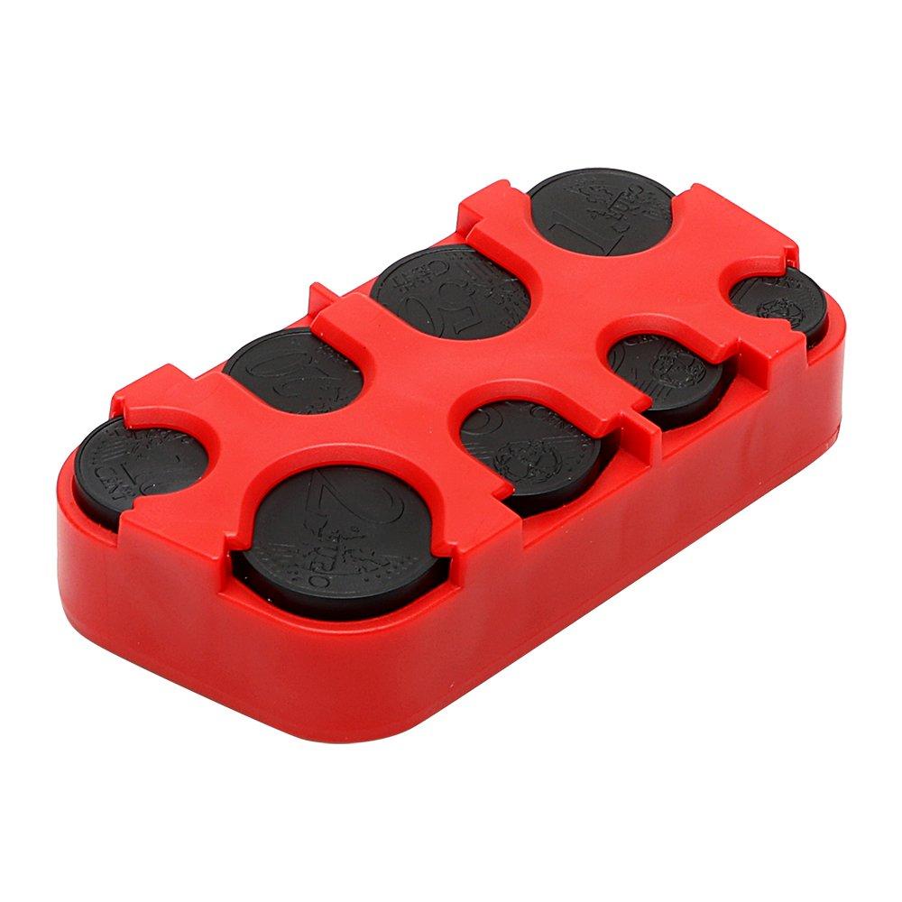 Itimo borsa Coin organizer Storage box auto Euro moneta del supporto Stowing Tidying denaro contenitore organizer car-styling accessori (rosso)