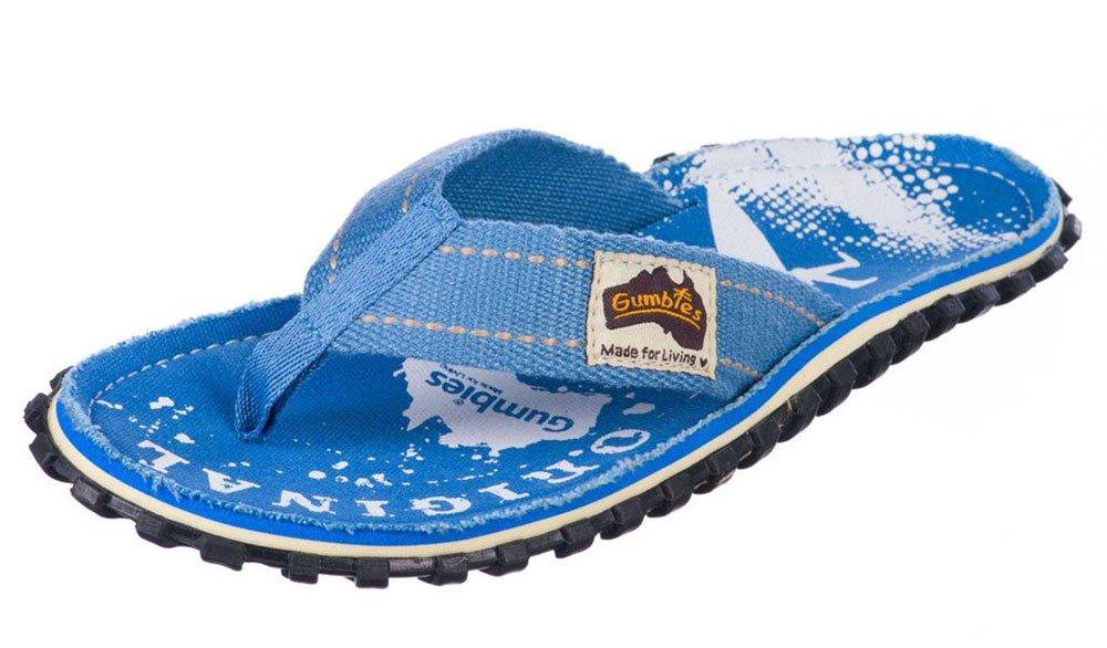 Gumbies Damen Zehentrenner - Rosa/Blau Schuhe in Uuml;bergrouml;szlig;en  36 EU Palm