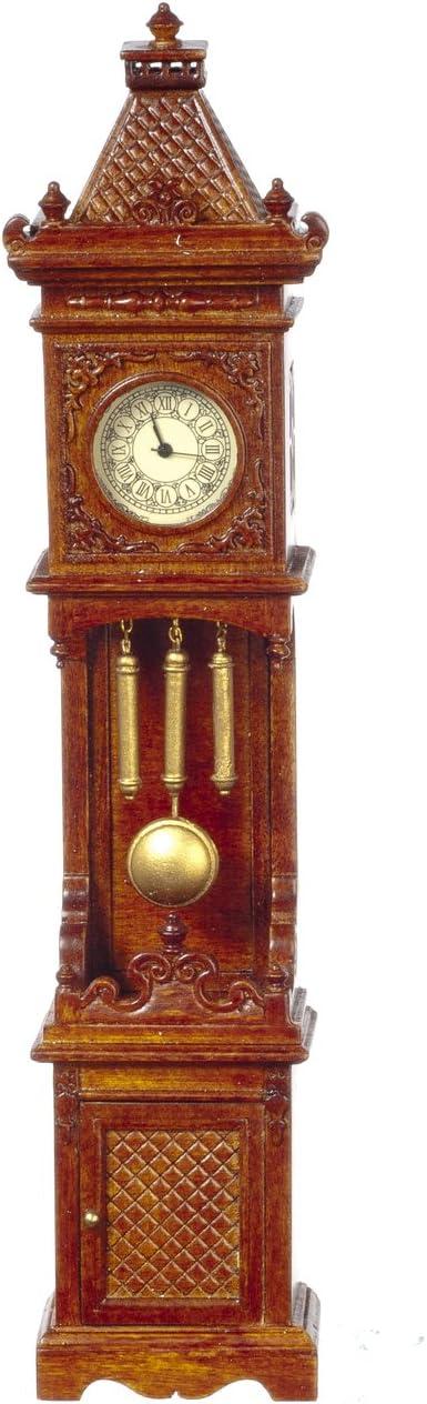 CARRIAGE Table clock  Walnut JBM dollhouse miniature furniture JJJ05022WN