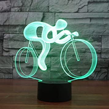 3D Fahrrad Lampe USB Power 7 Farben Amazing Optical Illusion 3D Wachsen LED  Lampe Formen Kinder