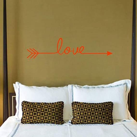 Amazon.com: Batop Multiple Colour Love Arrow Decals - Wall Sticker Living Room Bedroom Vinyl Engraved Wall Decals - Home Decoration Stickers (Orange): Home ...