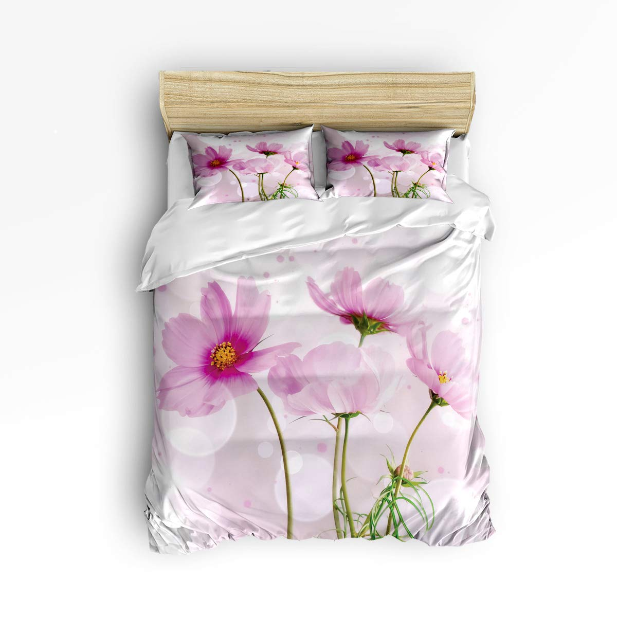 EZON-CH かわいい布団カバー3点セット 子供 男の子 女の子 レトロ 木製 ガニン パターン 高級寝具セット 掛け布団カバー 1 枚と枕カバー2枚 フルサイズ 20190117WHLSJSEZONCSLEO00831SJSBEZN B07MVX5XJ6 Flower39ezn7578 フルサイズ