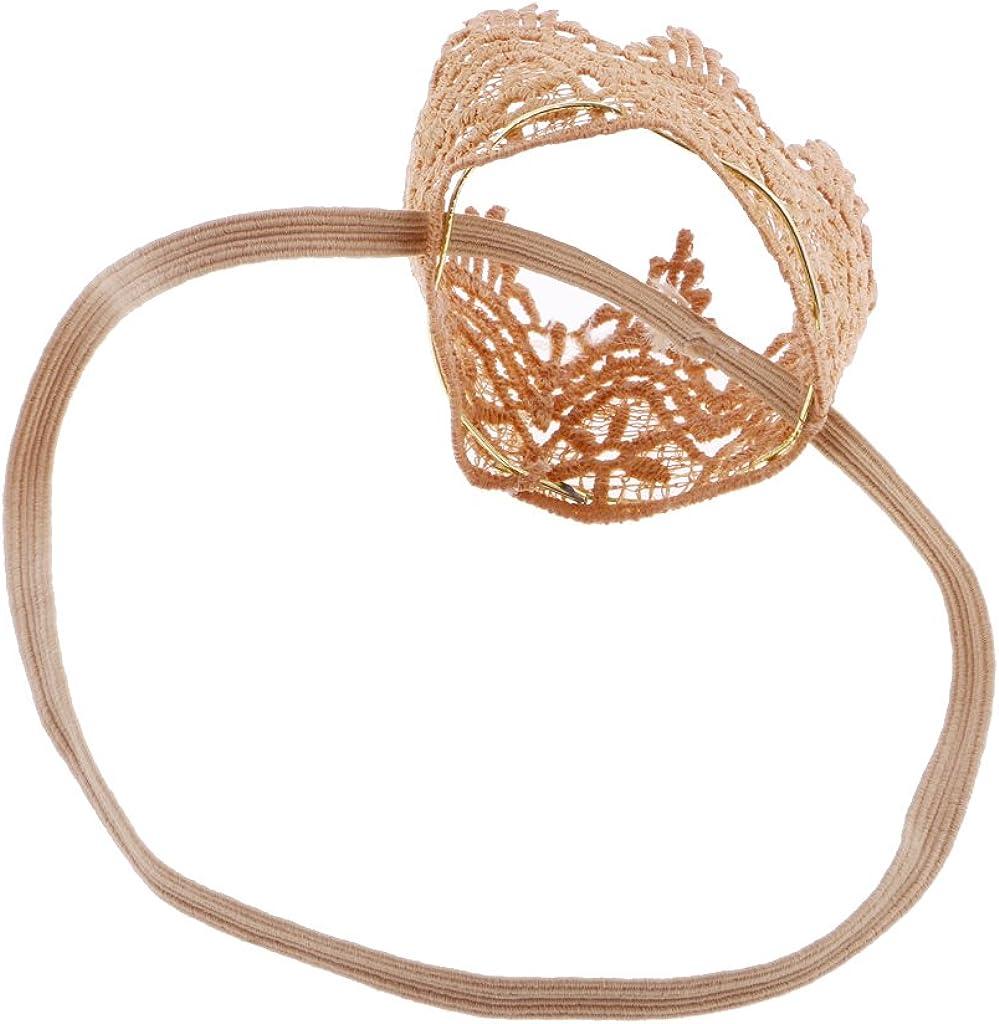 SM SunniMix Nettes Baby Elastisches Kronen Stirnband Haar Tiara Neugeborenes Gestricktes Hairband Geschenk