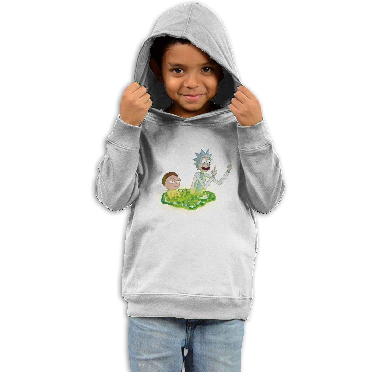 Stacy J. Payne Toddler Rick and Morty Fashion Fleece41 White