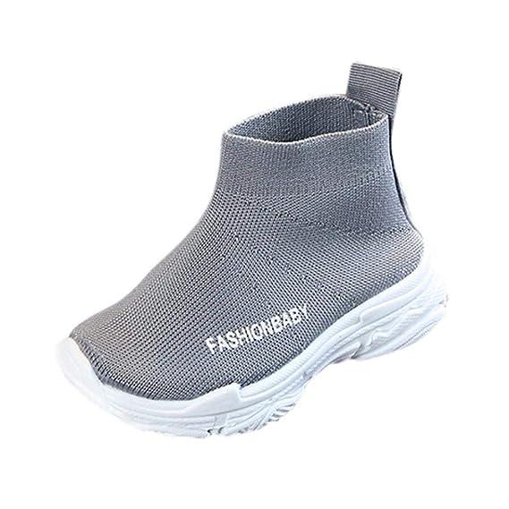 Zapatos de bebé, ASHOP Niña Niños Deporte Antideslizante del Zapato Moda Casuales Zapatillas del Otoño Invierno Botines sólidos de Malla 0-6 Años: ...