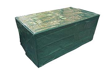 Laxllent Funda para Mesa de Jardín Impermeable al Viento Resistencia Funda para Muebles de Patio al Aire Libre,170 x 95 x 70 cm,Verde