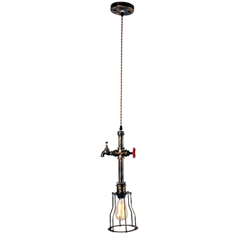 Amazon.com: Unitary marca rústico lámpara colgante de tubo ...