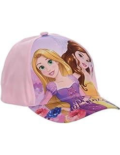 dece1c1036d41 Casquette Enfant Fille Disney Princesses Raiponce et Belle Rose de 3 à 9ans
