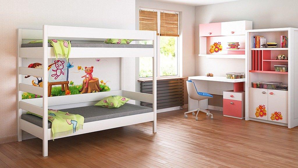 Children's Beds Home Etagenbetten - Kinder Kinder Juniors Single Mit 2 Schaumstoffmatratzen, Aber ohne Schubladen (160x80, Weiß)