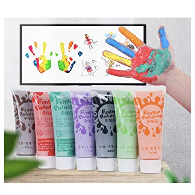12 Color Simply Washable Paints, Finger Paint for Kids/Children Eco-Friendly Materials at Home Activities, Non-Toxic, Craft, Hobby Plastic Squeeze for Arts Craft Posters (Light green-30ml/1.05 fl oz): Arts, Crafts & Sewing