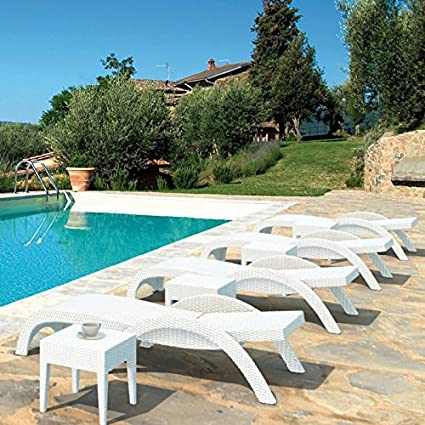 Amazon.com: Eclipse Collection Miami Outdoor Stackable Wickerlook Chaise Lounges 62