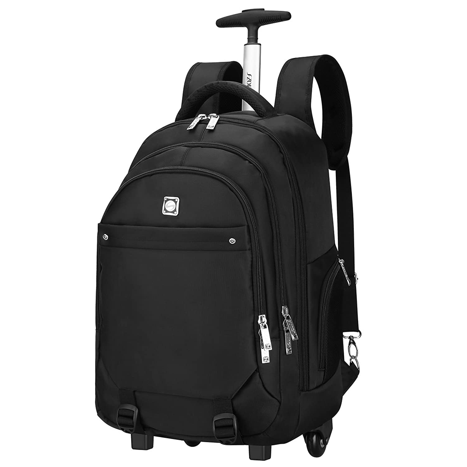 s zone wheeled backpack rolling carry on luggage
